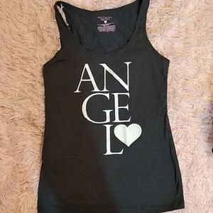 Victoria's secret vs angel gray white tank top